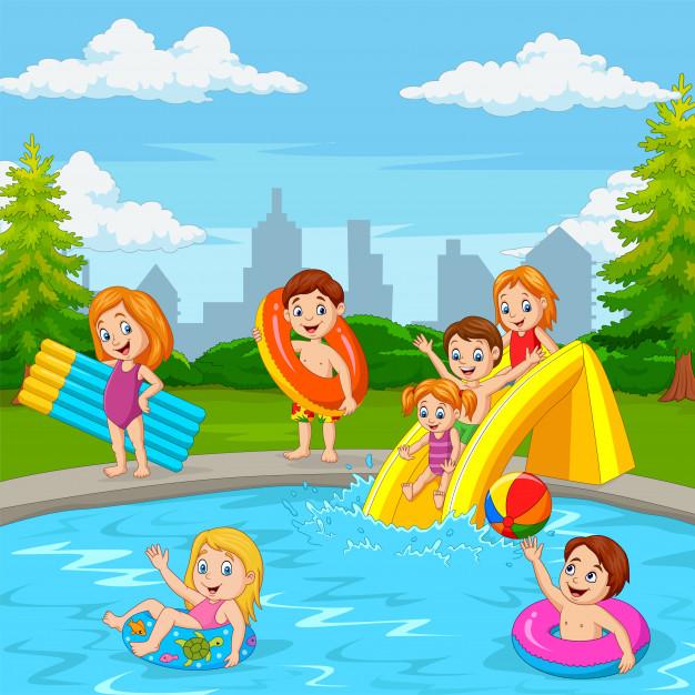 Zwemtraining tijdens de vakantie